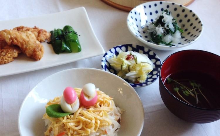 春のお祝い膳~炊き込みちらし寿司、何度でも作りたい基本の和食