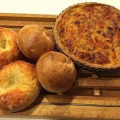 もちもち食感のベーグル(プレーン&チーズ)と簡単に作れるキッシュ!