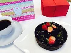 料理レッスン写真 - 生ショコラ☆バレンタインケーキ♪ 乳・卵不使用のヴィーガンスイーツ!