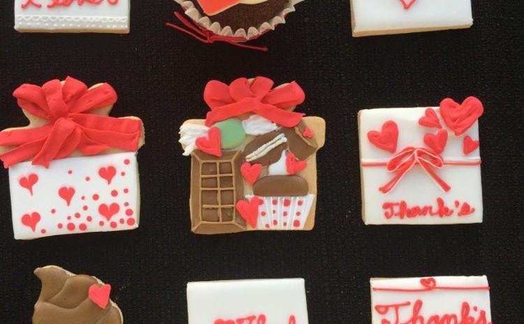 バレンタインアイシング&ヘルシーおからココアカップケーキ