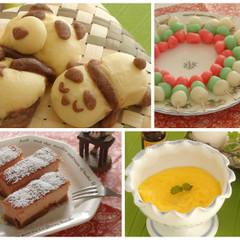 【春の親子レッスン】お昼寝パンダパン・三色団子・スティックチーズケーキ