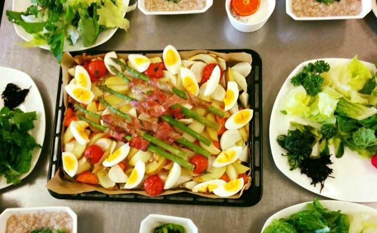 春野菜のギュギュウ焼き