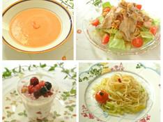 料理レッスン写真 - ズワイ蟹のトマトクリームスープ♡豚しゃぶサラダ&春キャベツのパスタ