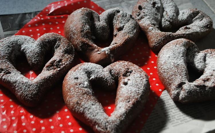定番チョコハートパン&コツの要らない!濃厚ガトーショコラ