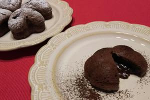 料理レッスン写真 - はじめてさんにも出来るとろけるダリオールショコラとハートのショコラ