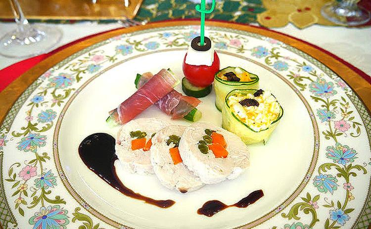【オードブル4品】チキン、生ハム、野菜、チーズを使ってカラフルに!