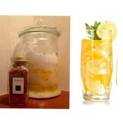 焼きココナッツ入りフルーツグラノーラ&レモンの酵素作り