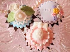 料理レッスン写真 - 初心者大歓迎♡マシュマロフォンダントで生地から作るデコカップケーキ♡