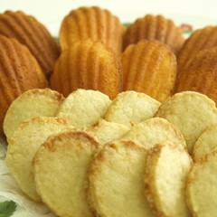 レモンを楽しむマドレーヌとクッキー♪