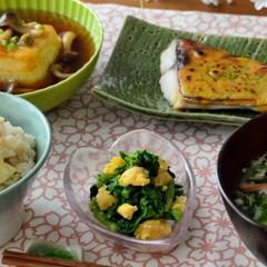 春の和食献立♪鰆の黄金焼きをメインに♪揚げだし豆腐や筍ごはんも♡