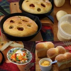 気軽に始める♪あこ天然酵母パン「トマトオリーブパン」&「ミニ山食パン」