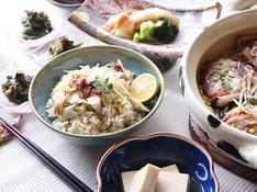 料理レッスン写真 - 鯛飯に桜の香りを纏わせて、旬のむき身で春のヌタ。高野豆腐は名傍役!