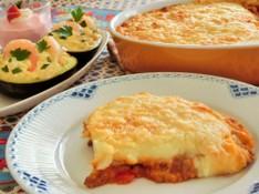 料理レッスン写真 - ミートソースとマッシュポテトのチーズグラタン、アボカドのファルシ