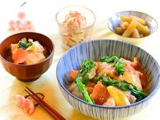 料理レッスン写真 - 【魚料理は得意なの♥】旬魚のこっくり煮&ふき煮、切り干し大根の常備菜