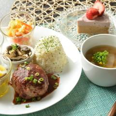 【美肌ゴハン】すりおろし野菜入りジューシーハンバーグ&自家製ツナ2種