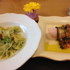 野菜たっぷりナスとトマトの前菜&ブロッコリーパスタでヘルシーイタリアン