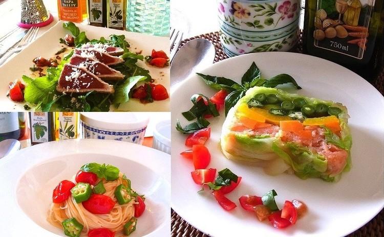 【8月追加】トマトの冷製パスタや夏野菜のテリーヌ 夏のひんやりレシピ