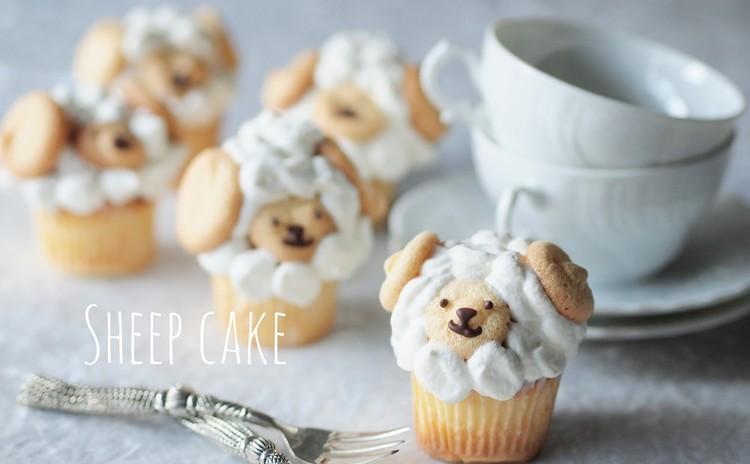 【開催日追加】生クリームモコモコ絞りの「羊さんケーキ」とふんわりブッセ
