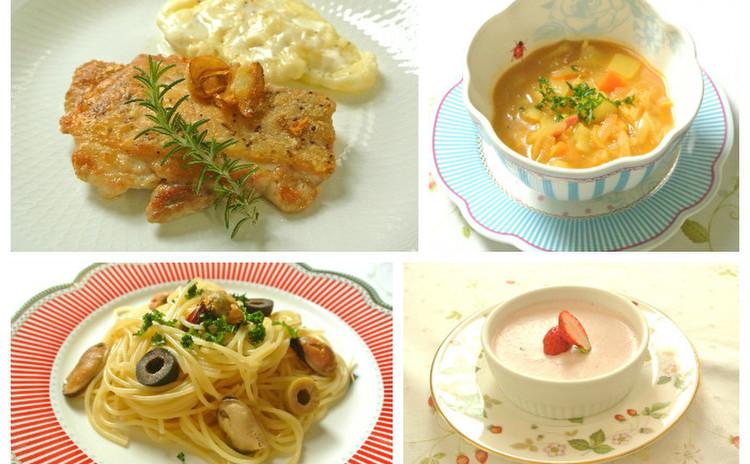 パリっとジューシーチキン&スープカレー&ムール貝の簡単パスタ