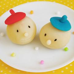 レンジで簡単!キュートな和菓子「ベレーとボーちゃん」初夏の花「撫子」