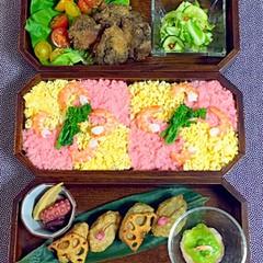春の彩り☆薬膳 華ちらし寿司弁当☆