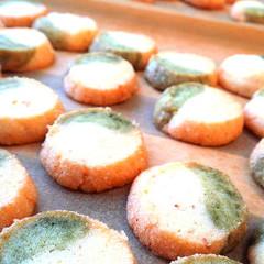 作るのはこの季節だけ!桜いっぱいアイスボックスクッキー☆
