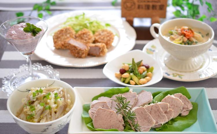 万能!塩ゆで豚をマスター☆デトックス効果の副菜&スイーツでおもてなし✿