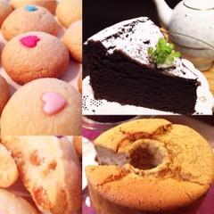 3種 焼き菓子コース♪ ガトーショコラ&クッキー&シフォンケーキ
