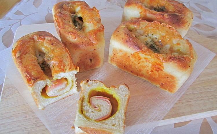 ふんわり!だけど、しっとり!ベーコンロール ミニ食パン型4個