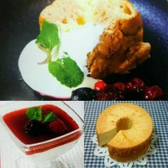 いちごとミルクのマーブルシフォン&ふんわりヨーグルトムース