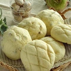 白神こだま酵母でメロンパン&サクッ!ポルボローネ☆オレンジコンポート