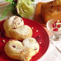 ふんわりもっちり!可愛いハートパンとアールグレイのパウンドケーキ