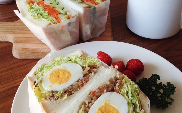 あると便利な常備菜 4品作って 「わんぱくサンド」 !!