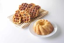 料理レッスン写真 - たまにはお家でゆっくり焼き菓子作り♡アーモンドケーキ&ベルギーワッフル