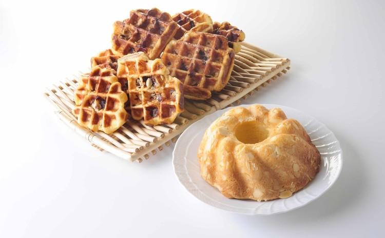たまにはお家でゆっくり焼き菓子作り♡アーモンドケーキ&ベルギーワッフル