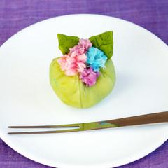 梅雨を楽しむ「鮮やかな紫陽花」レンジで簡単!和菓子を作ろう