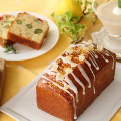 レモン香るケーク・シトロンと旬の野菜のケーク・サレ&紅茶のババロア☆