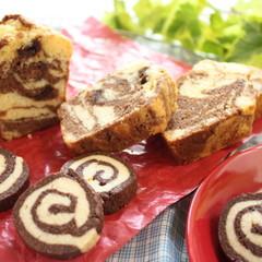 リクエストレッスン♡マーブルパウンドケーキとグルグル渦巻きクッキー