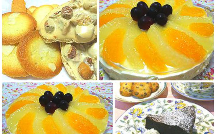 フルーツたっぷりのレアチーズケーキと焼き菓子2種!! お土産付き♪