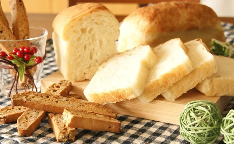 ホシノ天然酵母で作る!高加水食パン&酵母のおやつ・くるみのビスコッティ