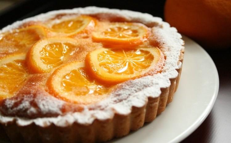 「オレンジタルト」オレンジの味がさわやかなタルト(16㎝丸1台実習)