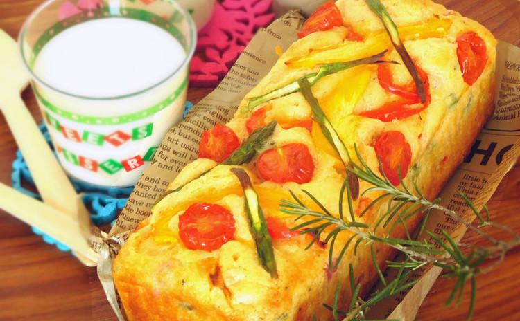 フランス生まれのおかずケーキ♡たっぷり夏野菜のケークサレとパンナコッタ