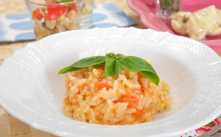 リゾットを極める!基本のトマトリゾットとヒヨコ豆のサラダ、鶏クリーム煮