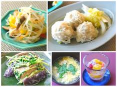 料理レッスン写真 - 「しゅうまい」をフライパンで!ピリ辛春雨サラダ♪茄子のオイマヨ炒め♪