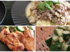 料理レッスン写真 - 夏の暑さを乗り切る!ペンネでタイカレー&タイ風チキン&胡瓜の浅漬け