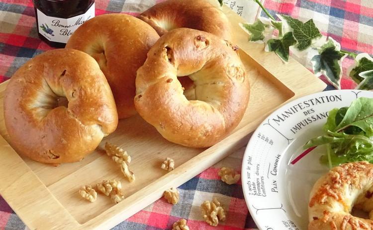白神こだま酵母と国産小麦でベーグル3種&簡単!白玉粉でポンデケージョ