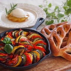 南仏の食卓♪を作ろう!簡単ラタトゥイユとパン、パインのデザート