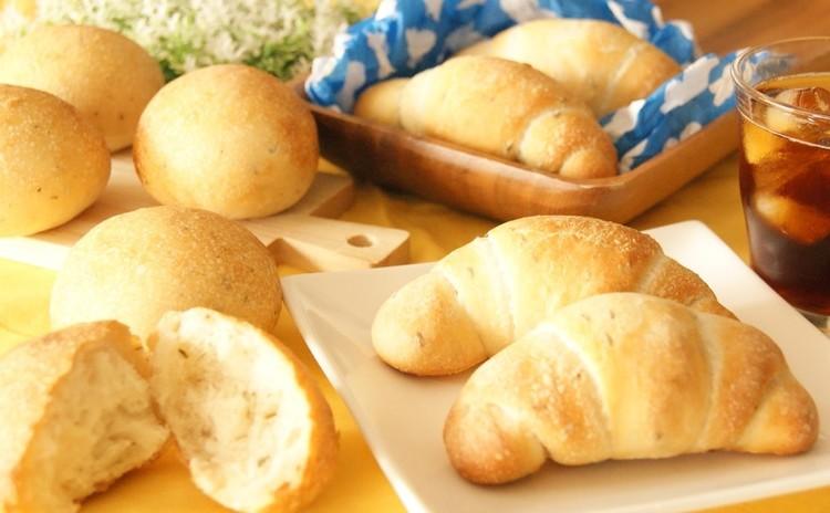 ホシノ天然酵母で作る!クミンシードのロールパン&ハーブミックスの丸パン