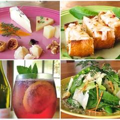 ようこそ湘南♪ 5種のチーズとワインを楽しむホームパーティ風レッスン