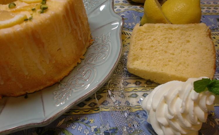リクエスト米粉レモンシフォンケーキ&アーモンドとピスタッチオのヌガー♪